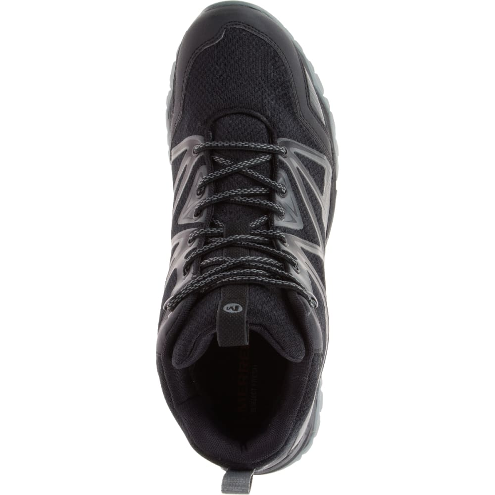 MERRELL Men's Capra Rise Mid Waterproof Hiking Shoes, Black - BLACK