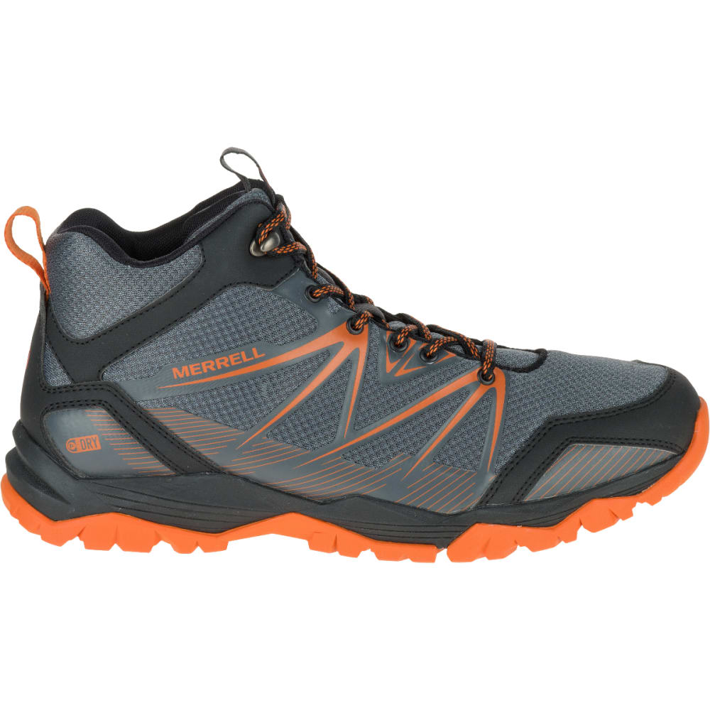 MERRELL Men's Capra Rise Mid Waterproof Hiking Shoes, Castle Rock - CASTLE ROCK