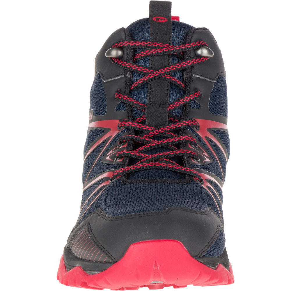 MERRELL Men's Capra Rise Mid Waterproof Hiking Shoes, Navy - NAVY