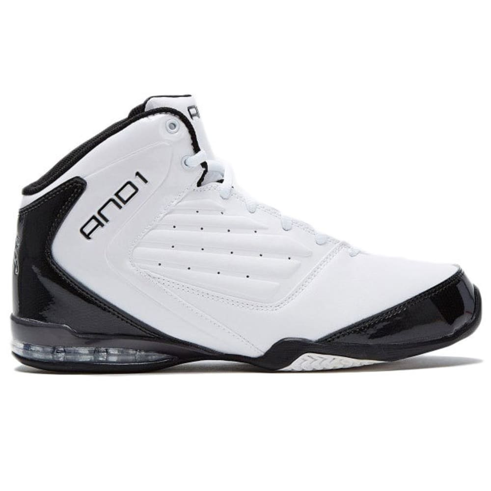 AND1 Boys' Master 2 Mid Basketball Shoes - WHITE / BLACK