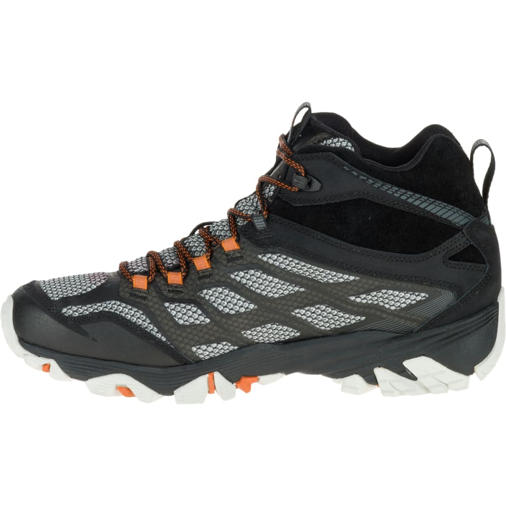 MERRELL Men's Moab FST Mid Waterproof Shoes, Black - BLACK