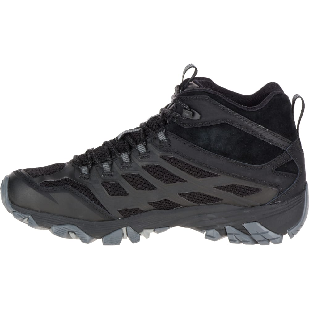 MERRELL Men's Moab FST Mid Waterproof Hiking Boots, Noire - NOIRE