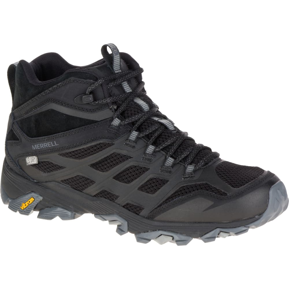 MERRELL Men's Moab FST Mid Waterproof Hiking Boots, Noire 7