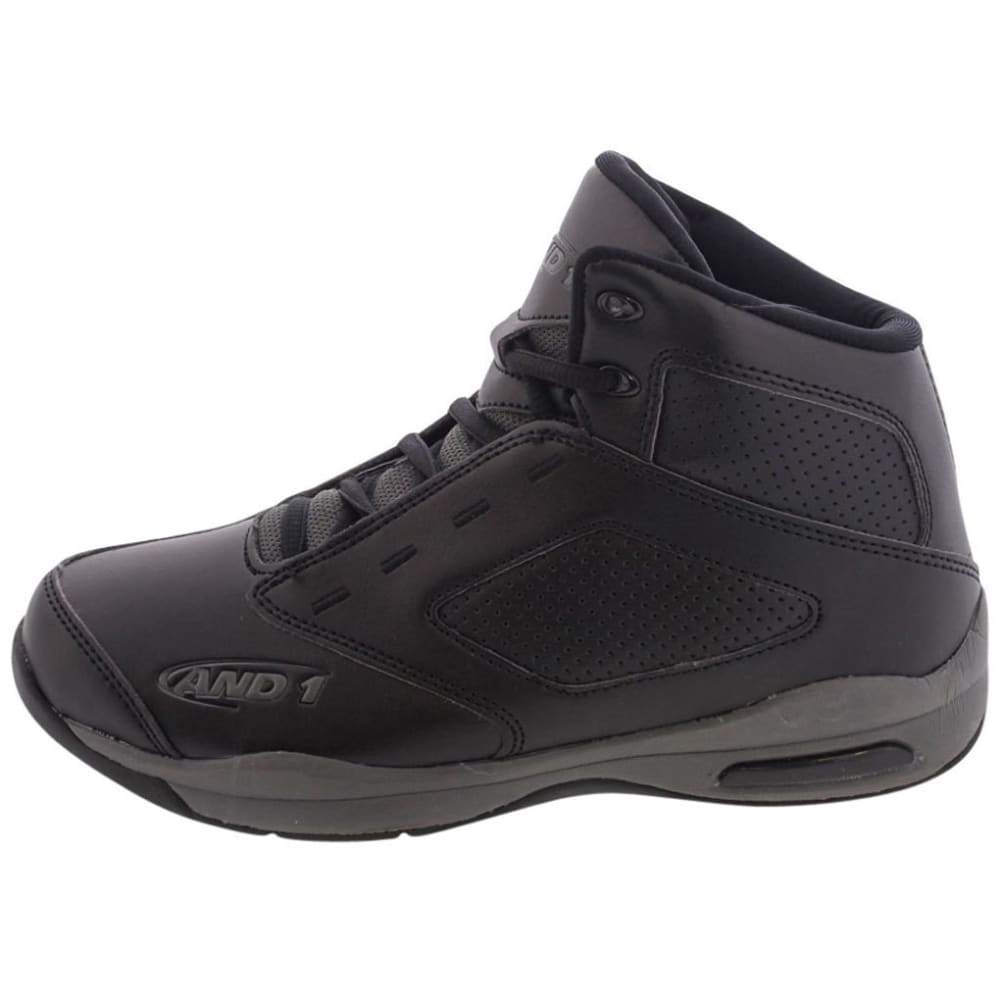 AND1 Boys' Typhoon Basketball Shoes - BLACK / CHARCOAL