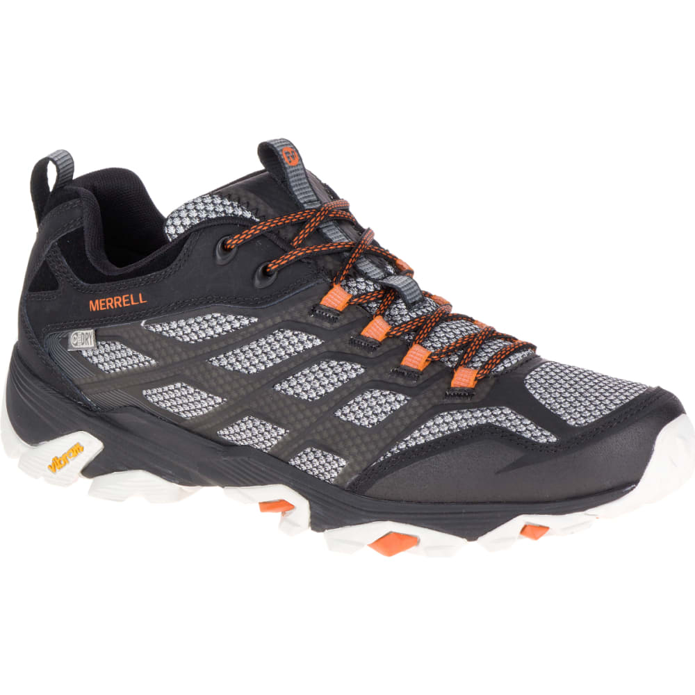 MERRELL Men's Moab FST Waterproof Sneakers, Black - BLACK