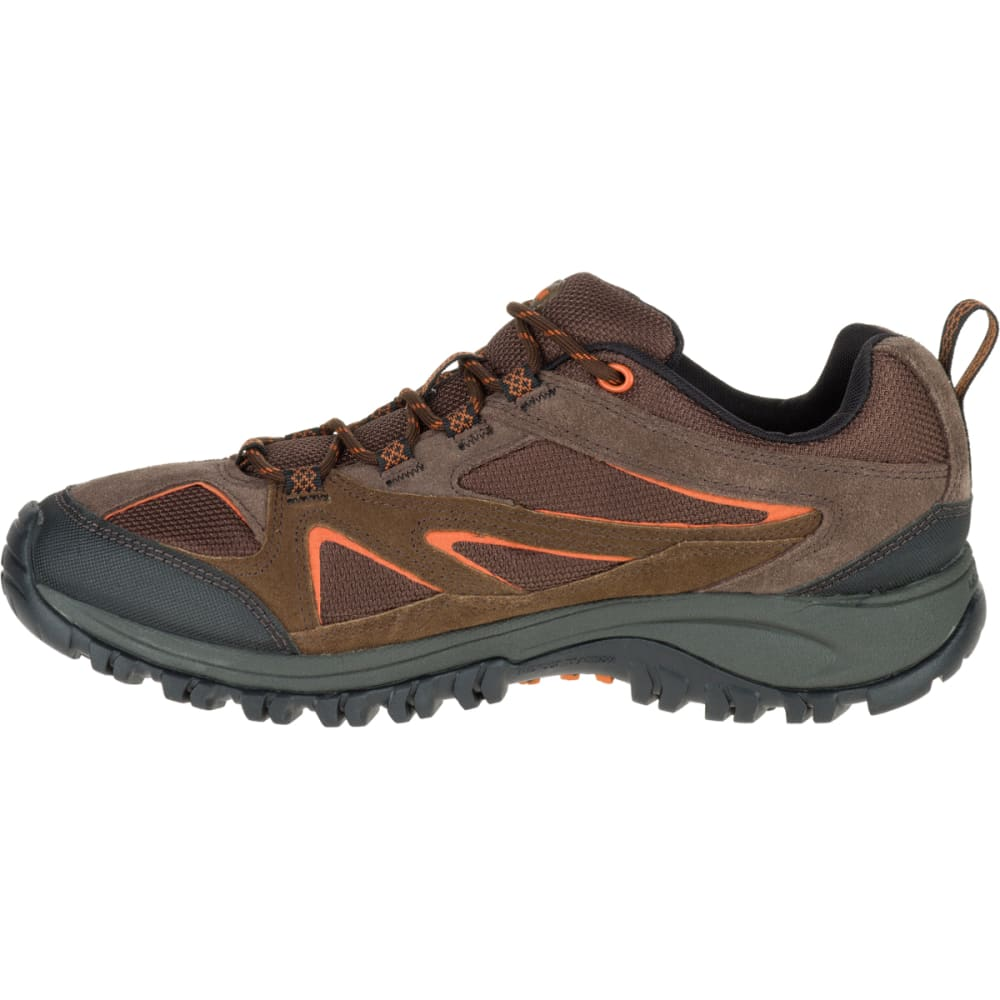 MERRELL Men's Phoenix Bluff Hiking Shoe, Dark Brown, Wide - DARK BROWN