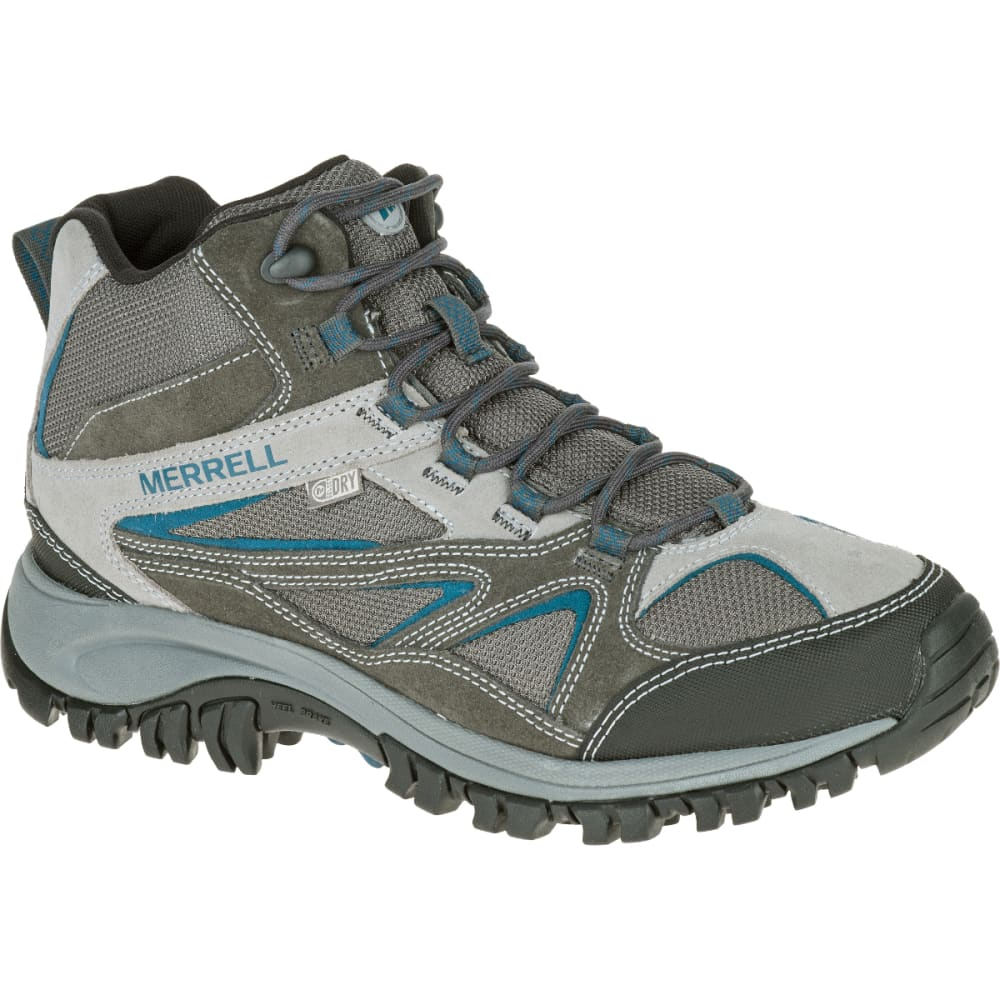 MERRELL Men's Phoenix Bluff Mid Waterproof Hiking Boot, Grey - GREY