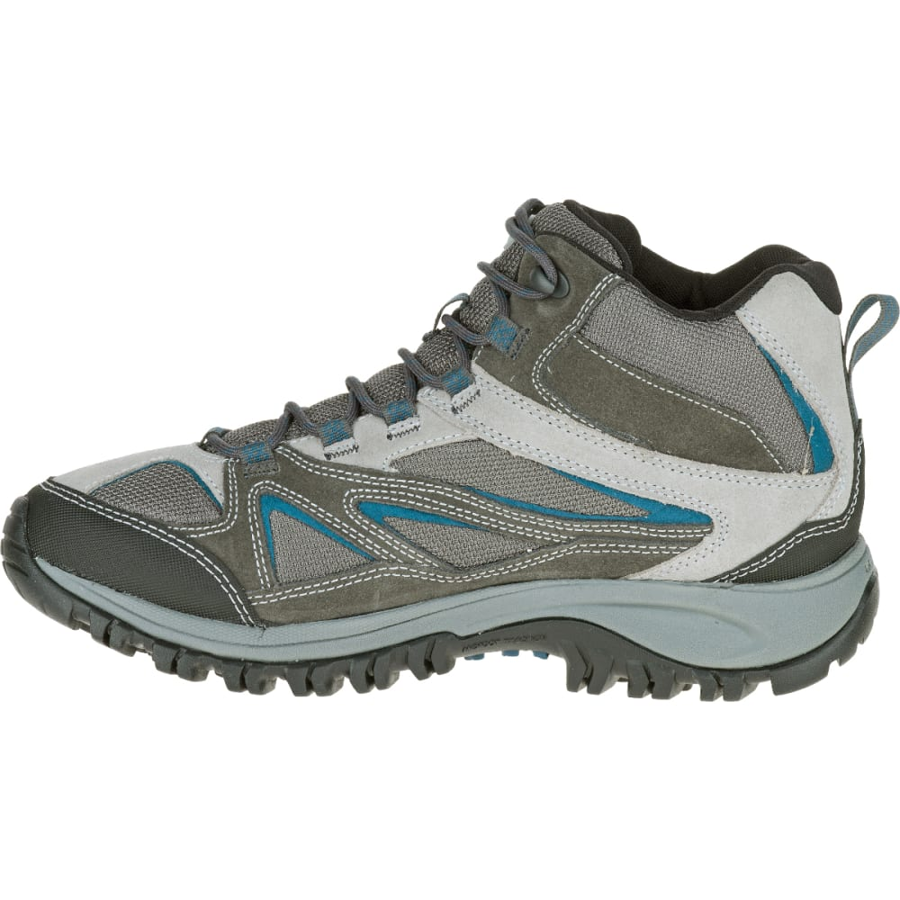 MERRELL Men's Phoenix Bluff Mid Waterproof Hiking Boot, Grey, Wide - GREY