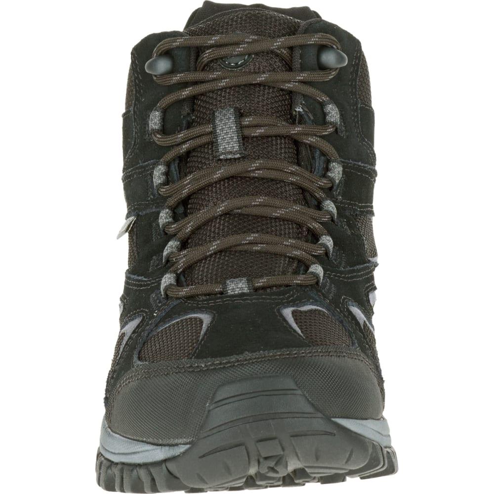 MERRELL Men's Phoenix Bluff Mid Waterproof Hiking Boot, Black, Wide - BLACK