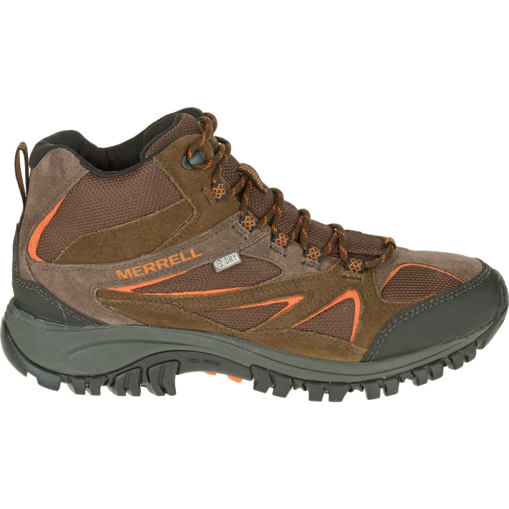 MERRELL Men's Phoenix Bluff Mid Waterproof Hiking Boot, Dark Brown - DARK BROWN