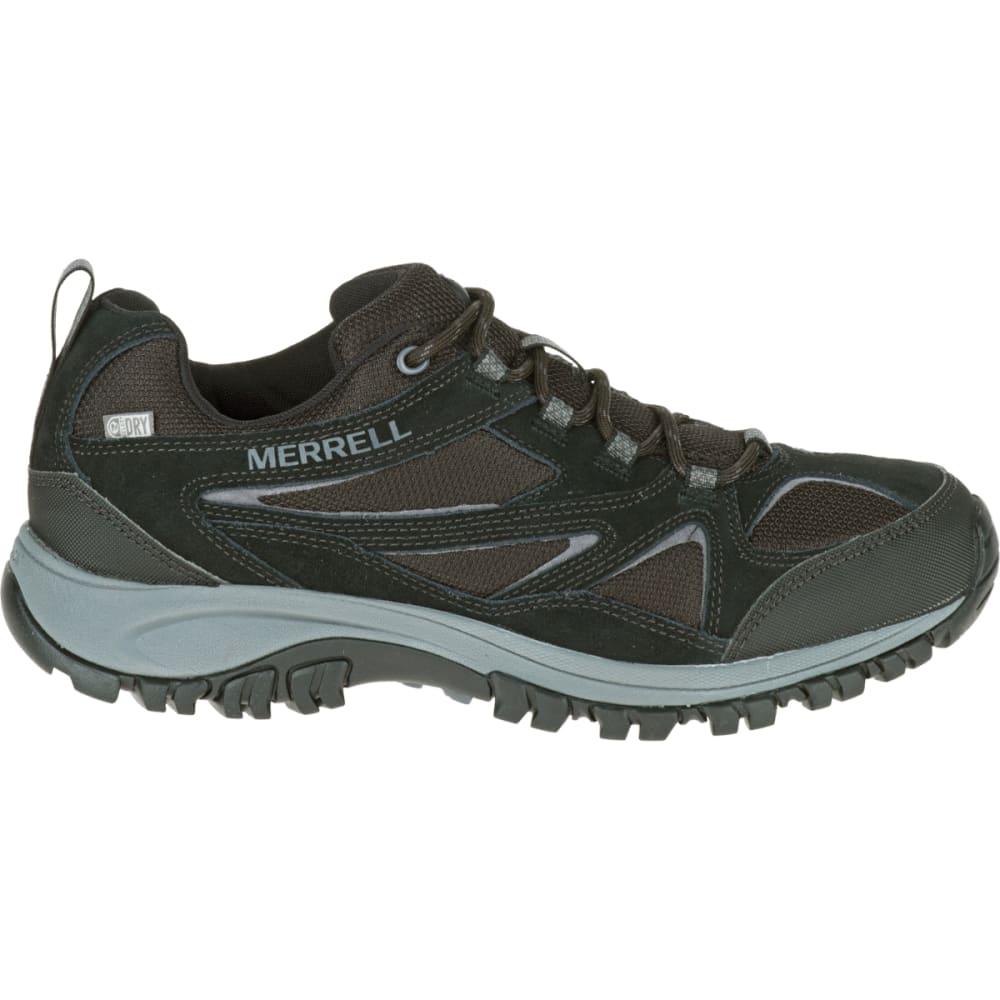 MERRELL Men's Phoenix Bluff Waterproof Hiking Shoe, Black, Wide - BLACK