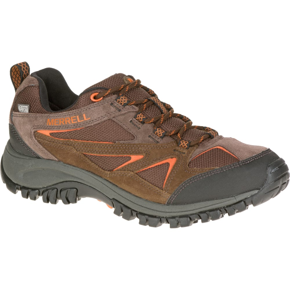 MERRELL Men's Phoenix Bluff Waterproof Hiking Shoe, Dark Brown - DARK BROWN