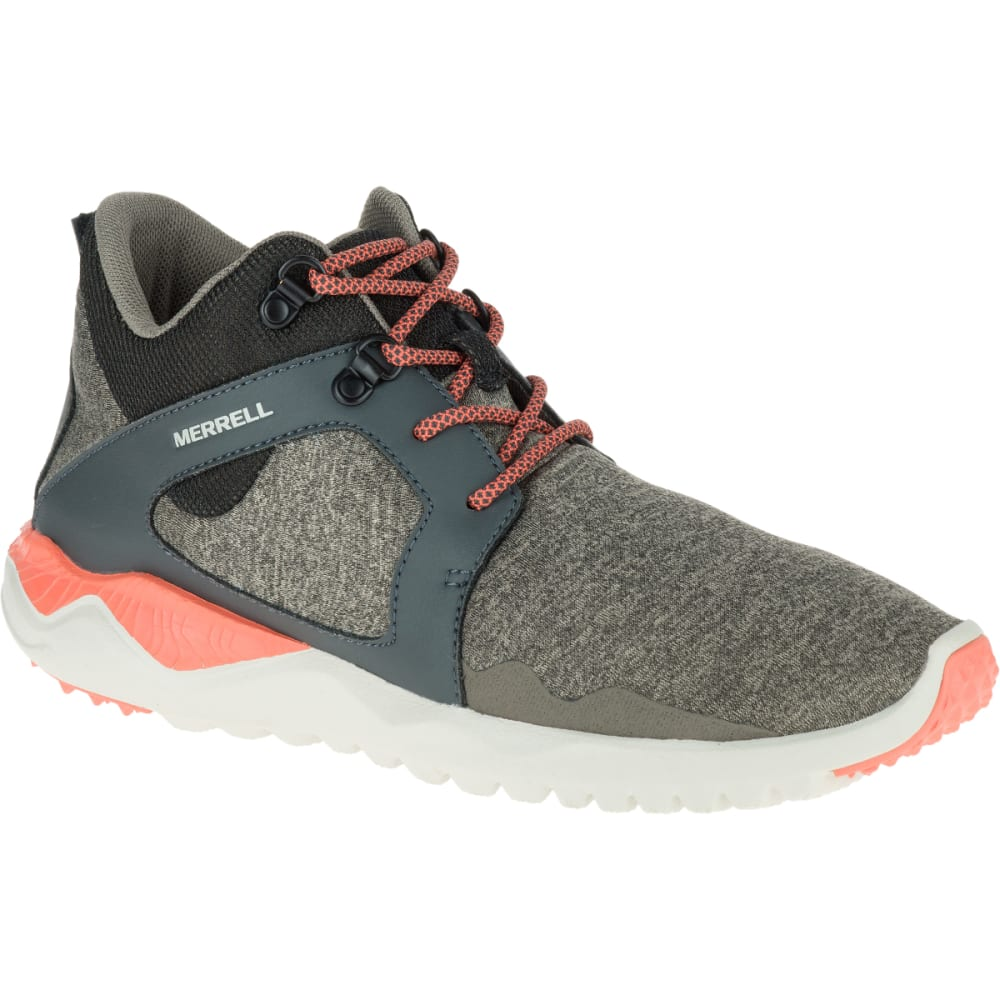 MERRELL Women's 1SIX8 Mid Shoe, Aluminum - ALUMINUM