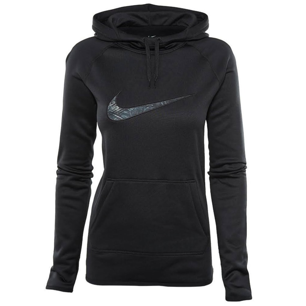 NIKE Women's Therma Training Pullover Hoodie - BLACK - 010