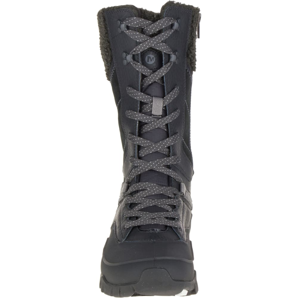 MERRELL Women's Aurora Tall Ice+ Waterproof Boots, Black - BLACK