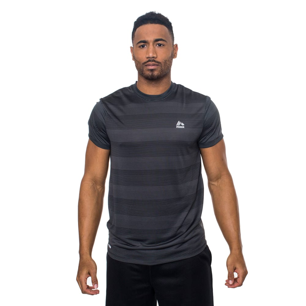 RBX Men's Stripe Short-Sleeve Crewneck Tee - BLACK