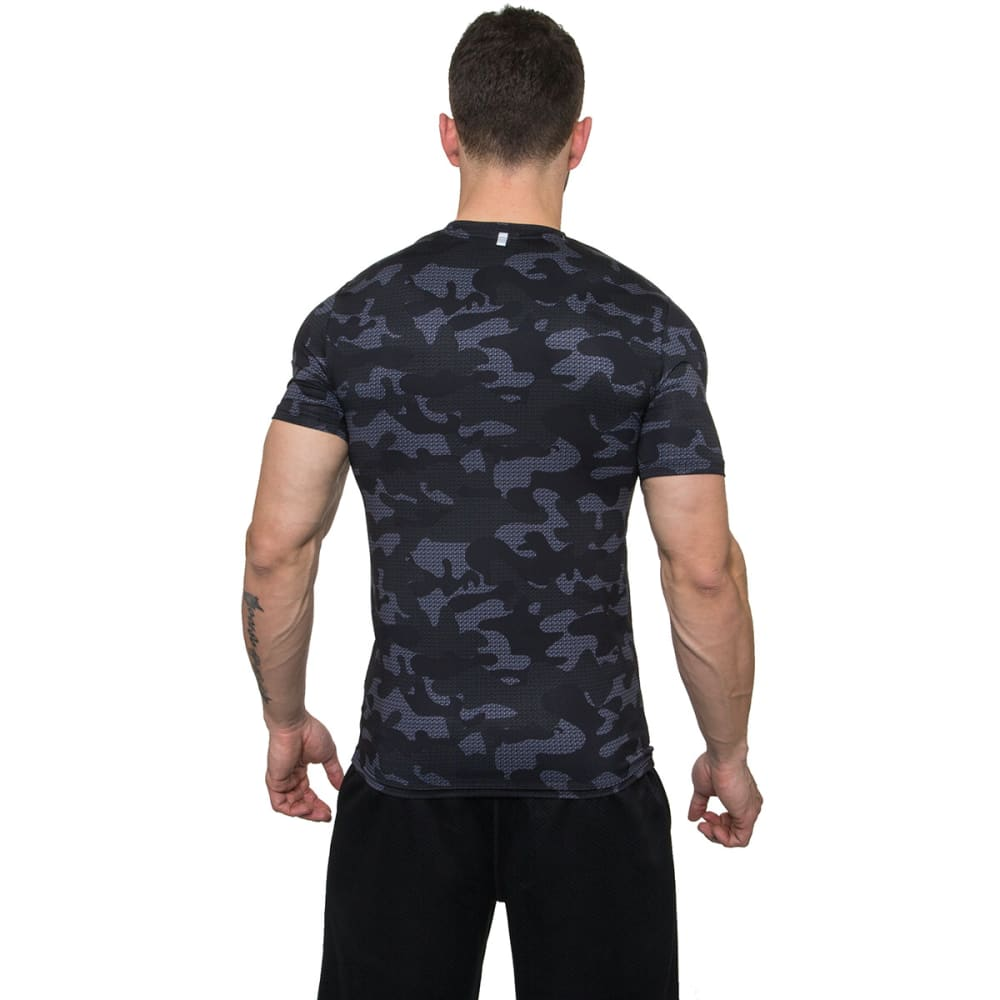 RBX Men's Camo Printed Short-Sleeve Fitted Tee - BLACK-BLK
