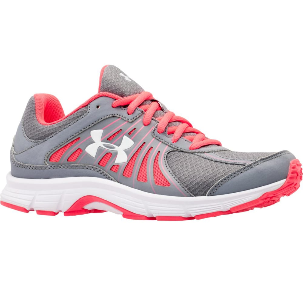 UNDER ARMOUR Women's Dash RN Running Shoes - STEEL/PINK SHOCK/WHI