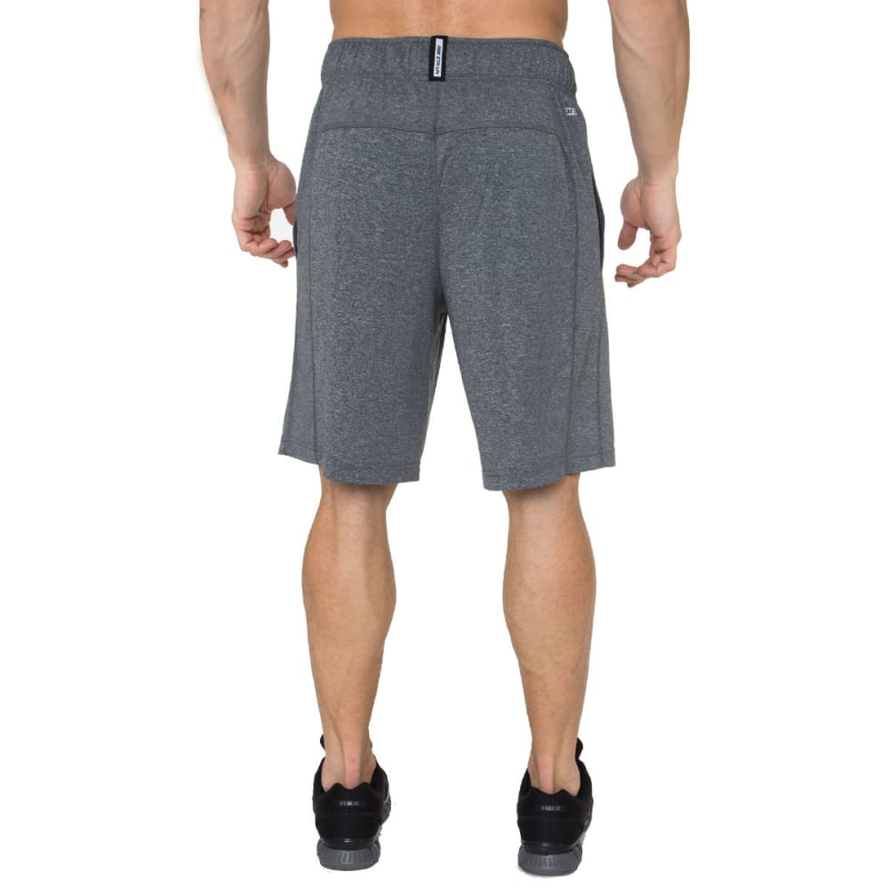 RBX Men's 9 in. Poly Heather Shorts - CHARCOAL HTHR-CHAR