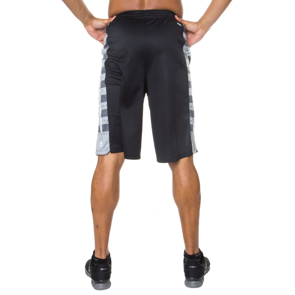 RBX Men's 12 in. Poly Novelty Mesh Basketball Shorts - BLACK-BLK