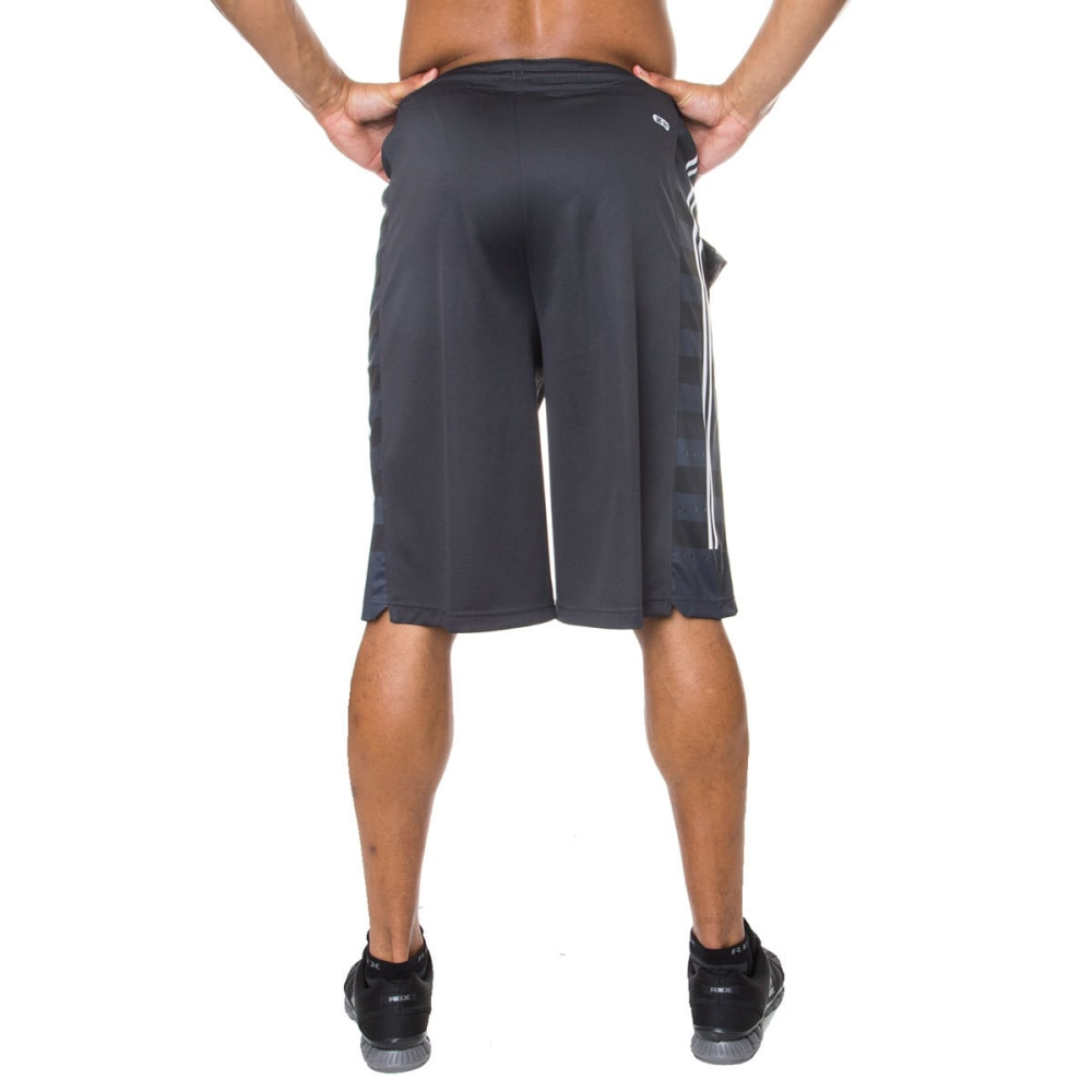 RBX Men's 12 in. Poly Novelty Mesh Basketball Shorts - GRAPHITE-GRAP