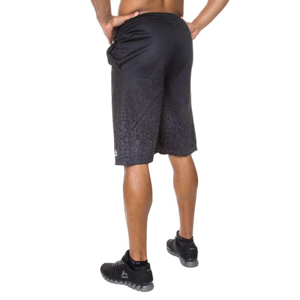 RBX Men's 12 in. Gradient Printed Basketball Shorts - BLACK-BLK
