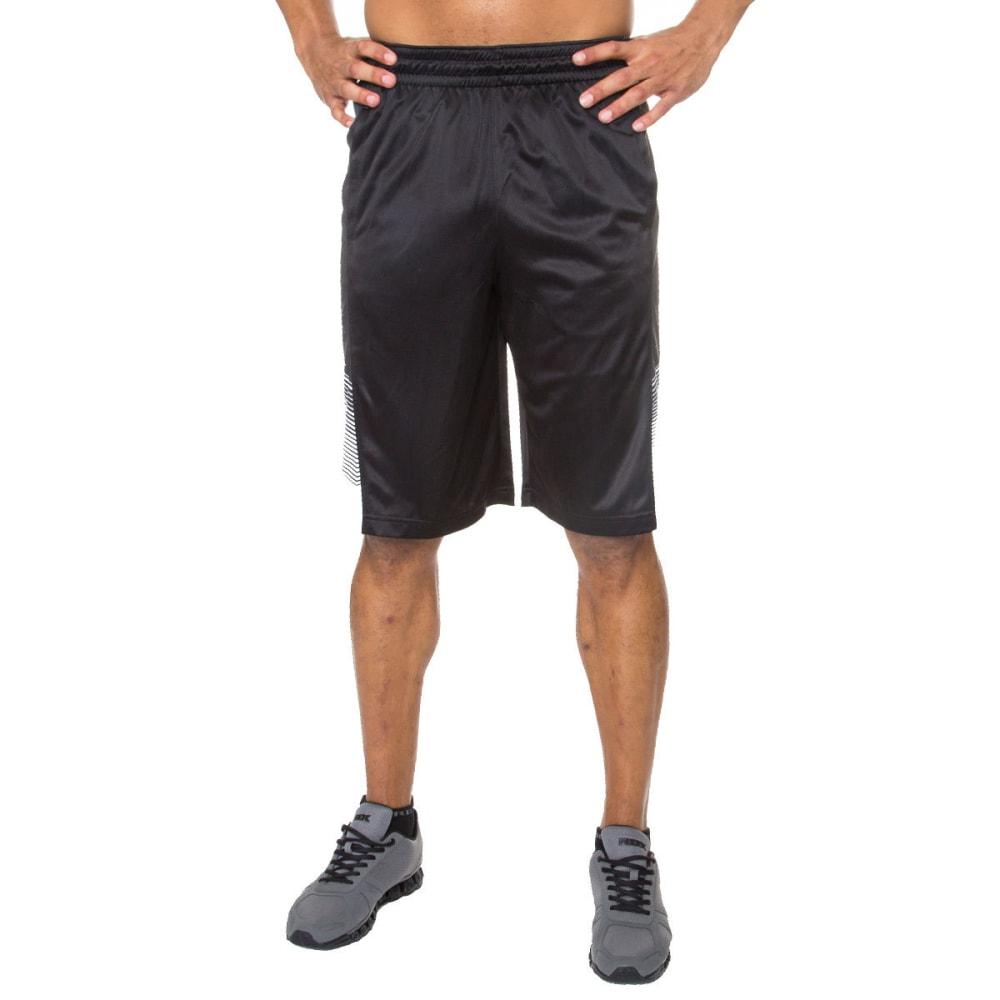 RBX Men's 12 in. Gradient Printed Basketball Shorts - BLACK-BLK
