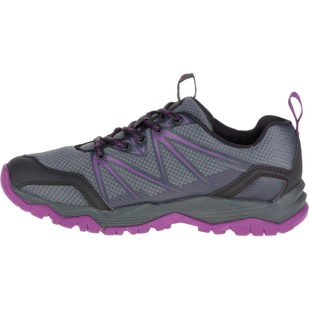 MERRELL Women's Capra Rise Hiking Shoe, Grey/Purple - GREY/PURPLE