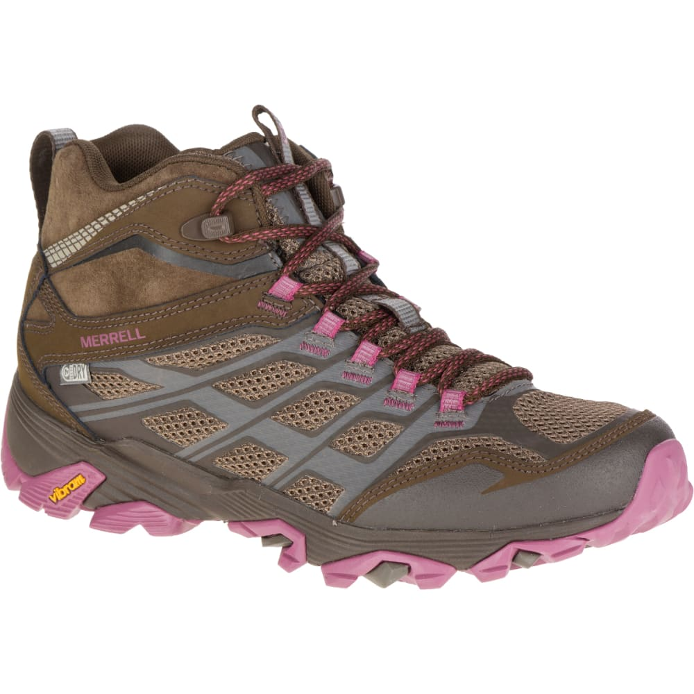 Merrell Women's Moab Fst Mid Waterproof Boots, Boulder - Brown, 8.5