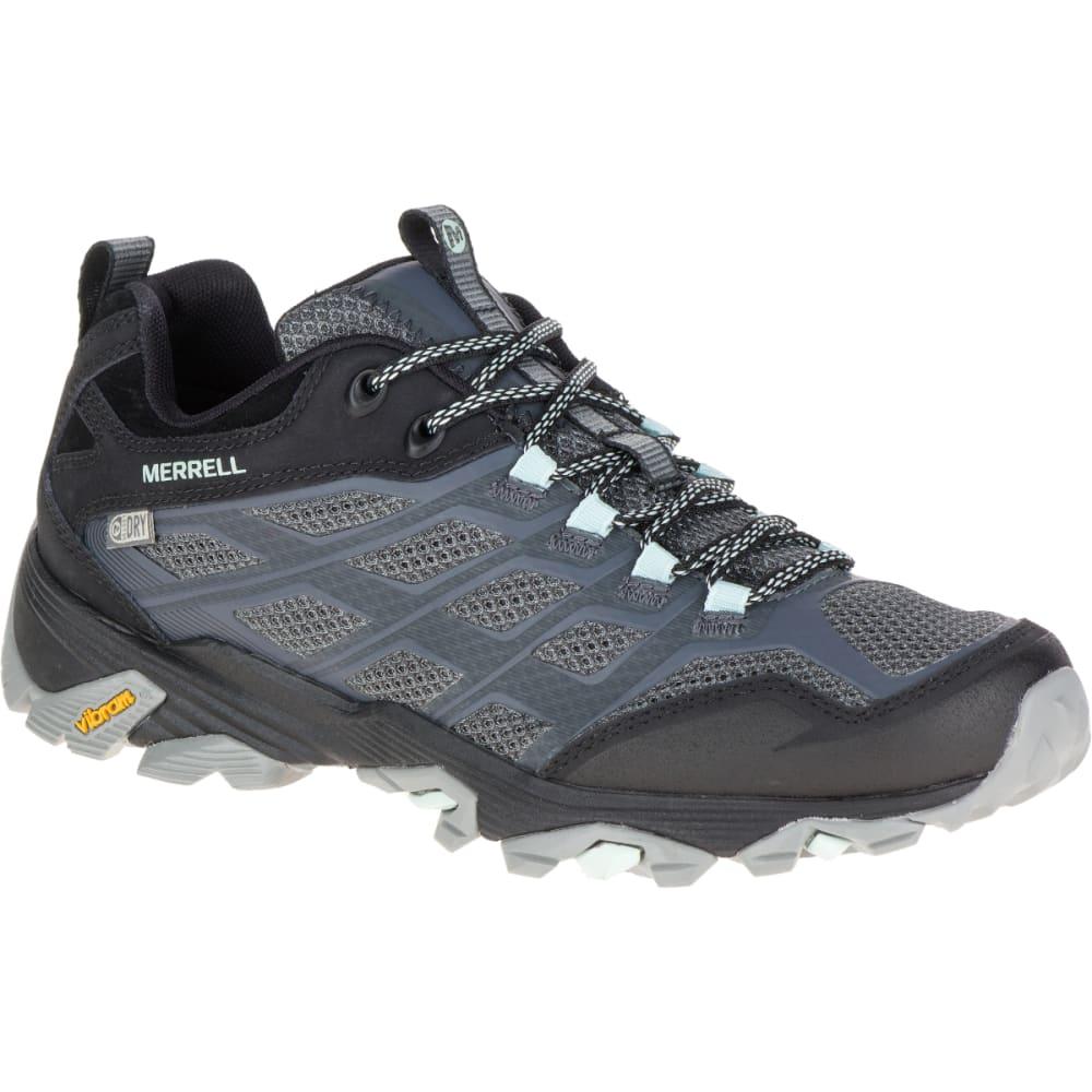Merrell Women's Moab Fst Waterproof Shoe, Granite - Black, 9