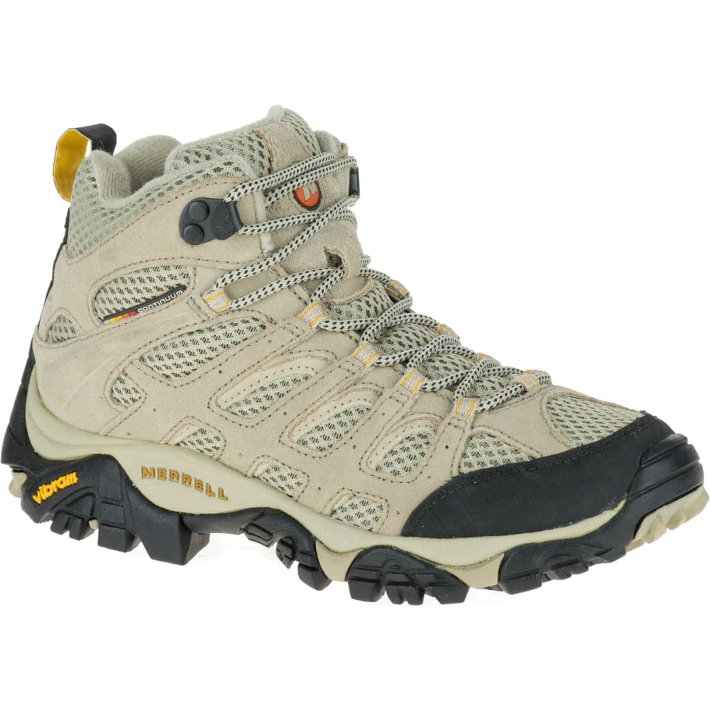MERRELL Women's Moab Ventilator Mid, Taupe, Wide - TAUPE