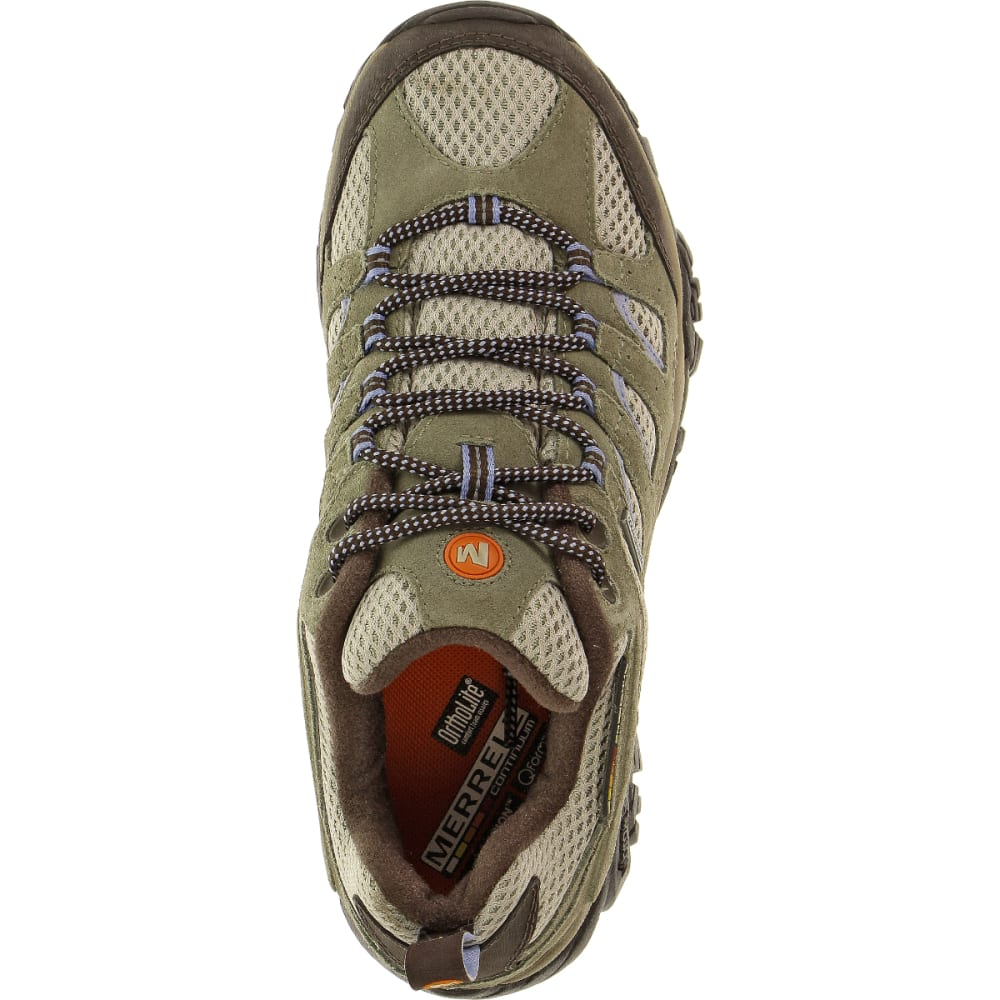 MERRELL Women's Moab Waterproof Shoe, Dusty Olive, Wide - DUSTY OLIVE
