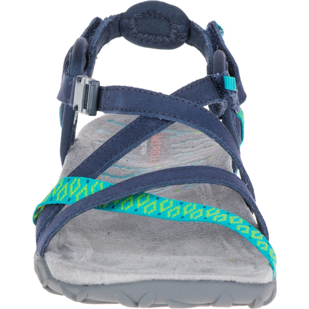 MERRELL Women's Terran Lattice II Sandals, Navy - NAVY