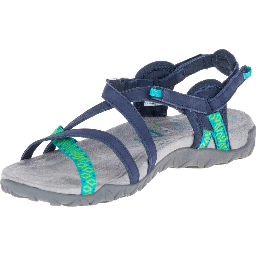 MERRELL Women's Terran Lattice II Sandals, Navy - NAVY