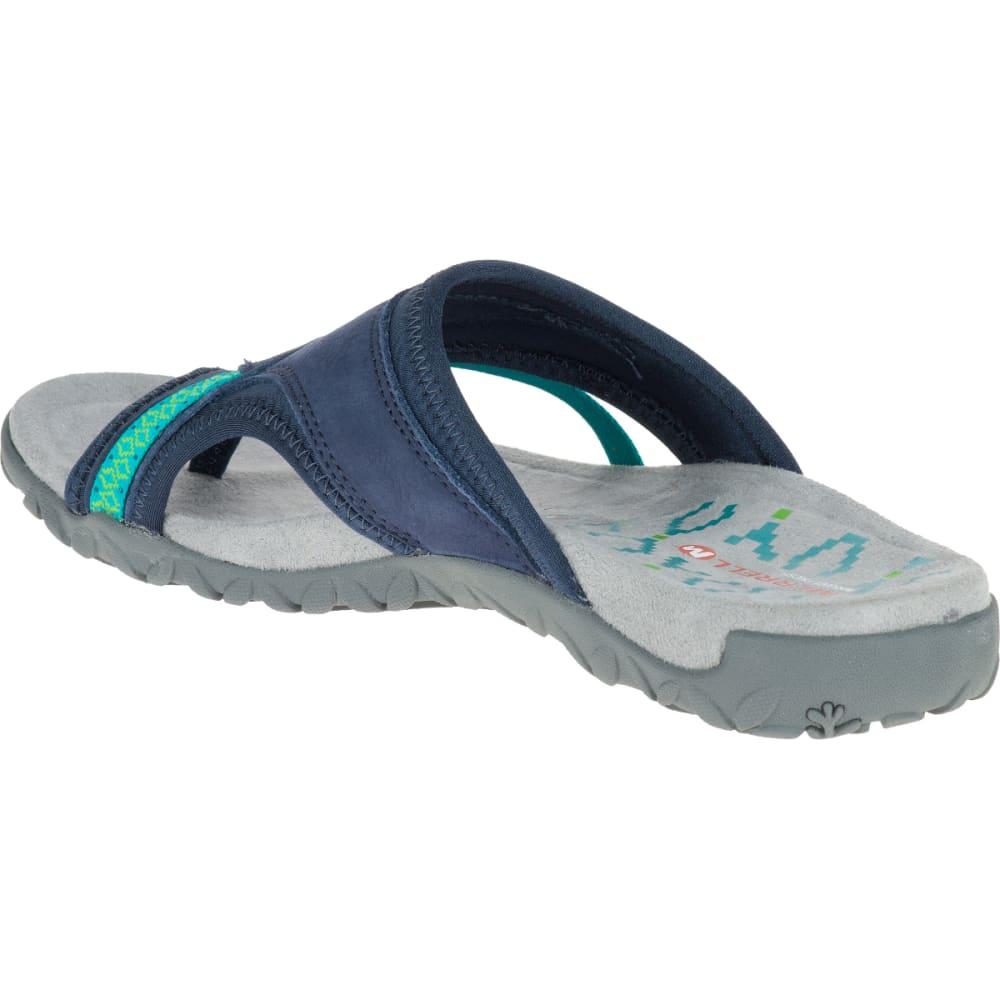 MERRELL Women's Terran Post II Sandals, Navy - NAVY