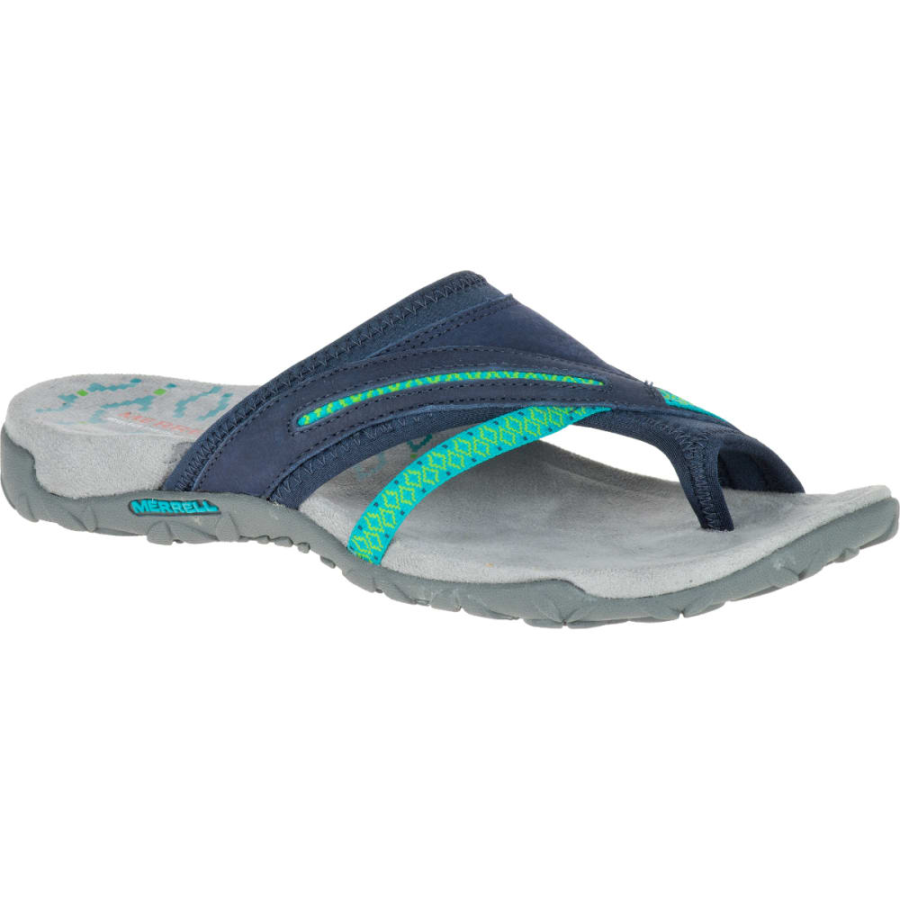 MERRELL Women's Terran Post II Sandals, Navy - NAVY