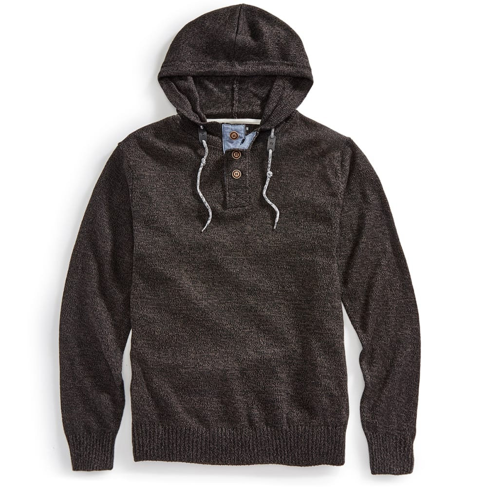 OCEAN CURRENT Guys' Pepper Hooded Sweater - BLACK