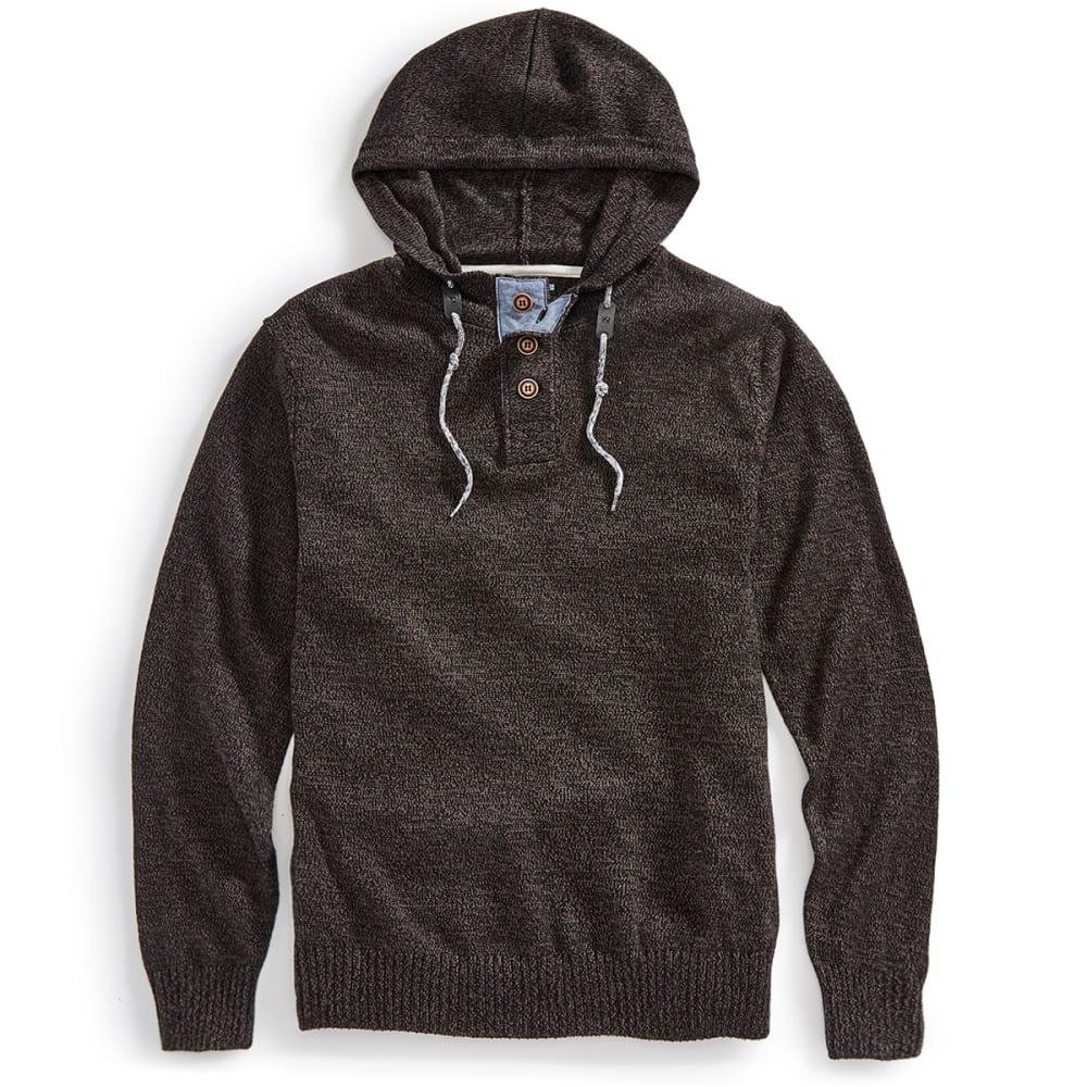 OCEAN CURRENT Guys' Pepper Hooded Sweater - BLACK