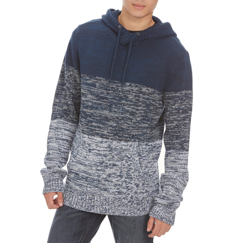 RETROFIT Guys' Stripe Hooded Sweater - BLUE ONYX
