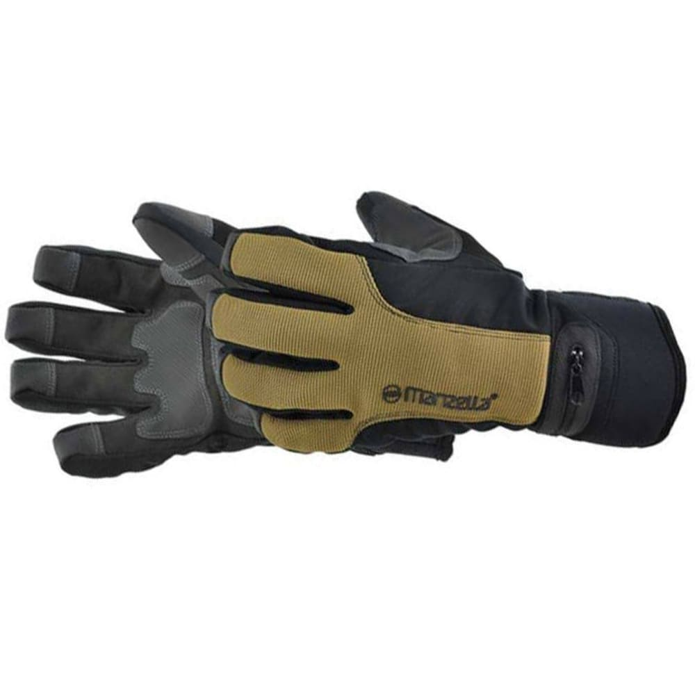 MANZELLA Men's Trail Boss Work Gloves with Zippered Pocket - BLACK/WHEAT