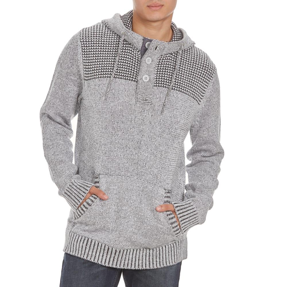 RETROFIT Guys' Henley Hooded Pullover - PLATINUM