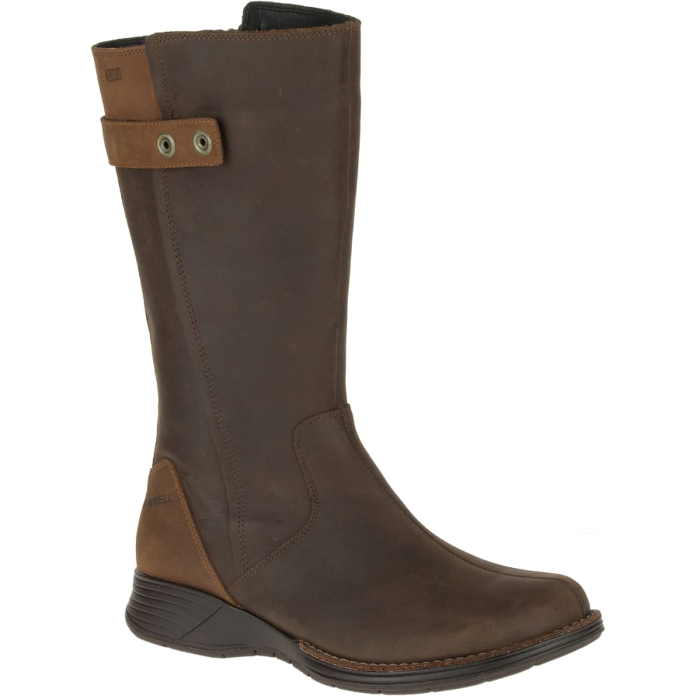 MERRELL Women's Travvy Tall Waterproof Boots, Clay - CLAY