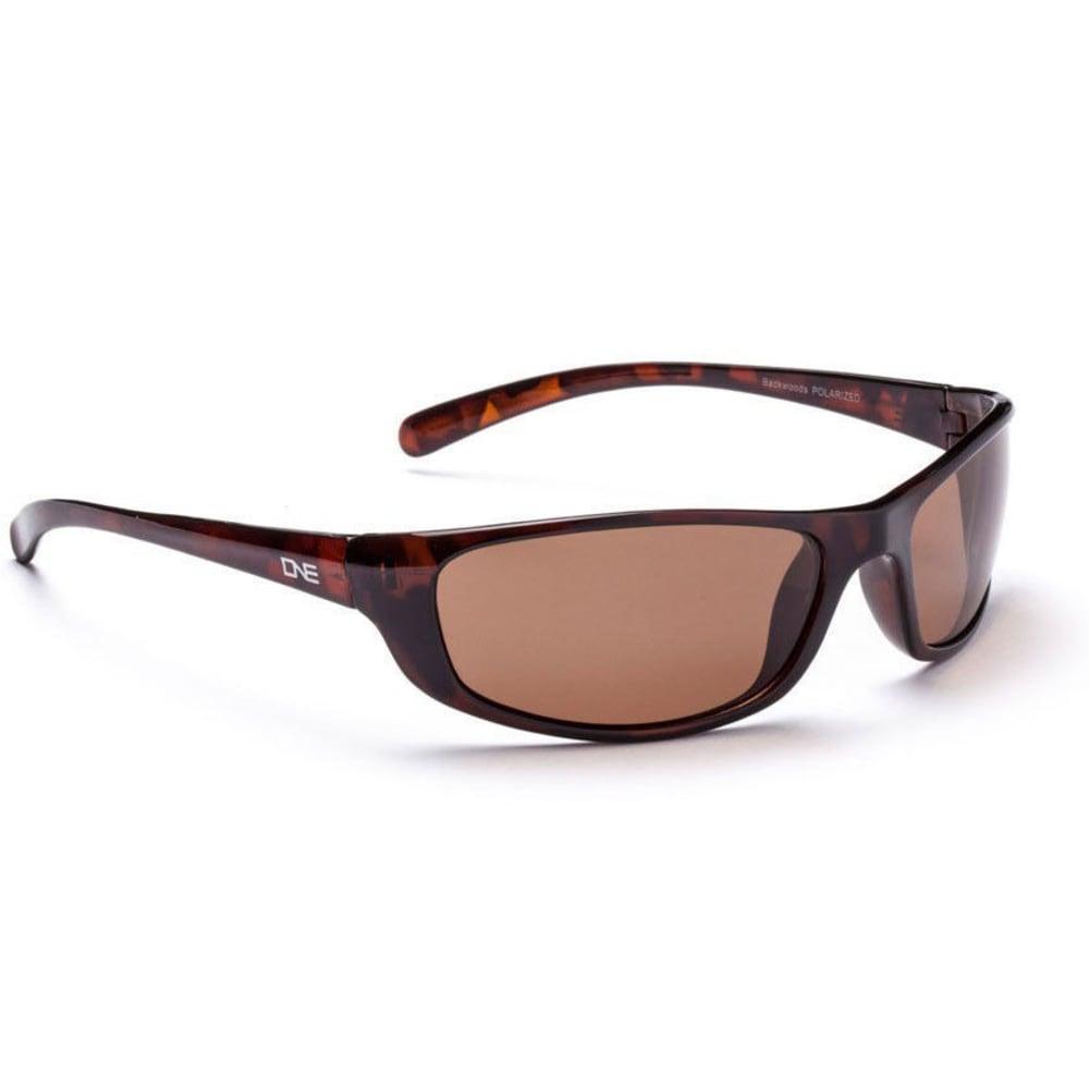 ONE BY OPTIC NERVE Backwoods Sunglasses, Dark Demi - POLARIZED BROWN