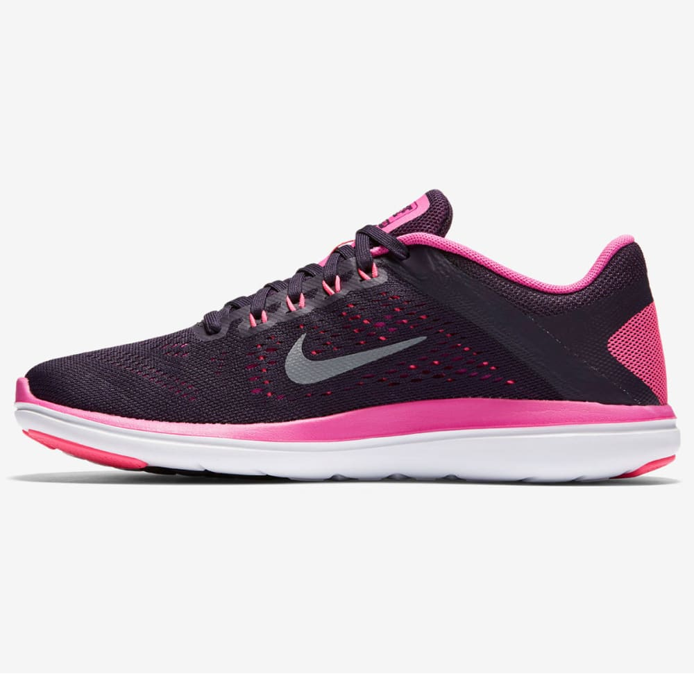 NIKE Women's Flex 2016 RN Running Shoes - PURPLE DYNASTY/F PNK