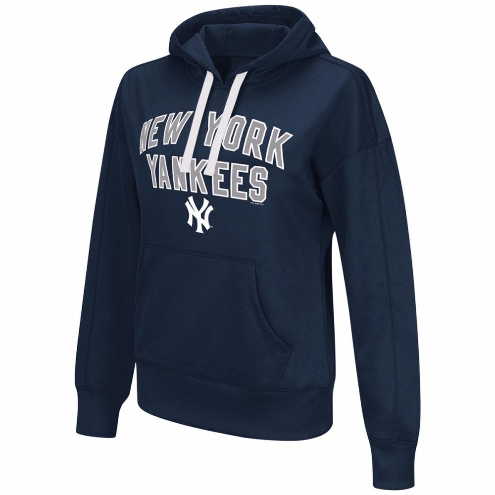 NEW YORK YANKEES Women's Pullover Hoodie - NAVY