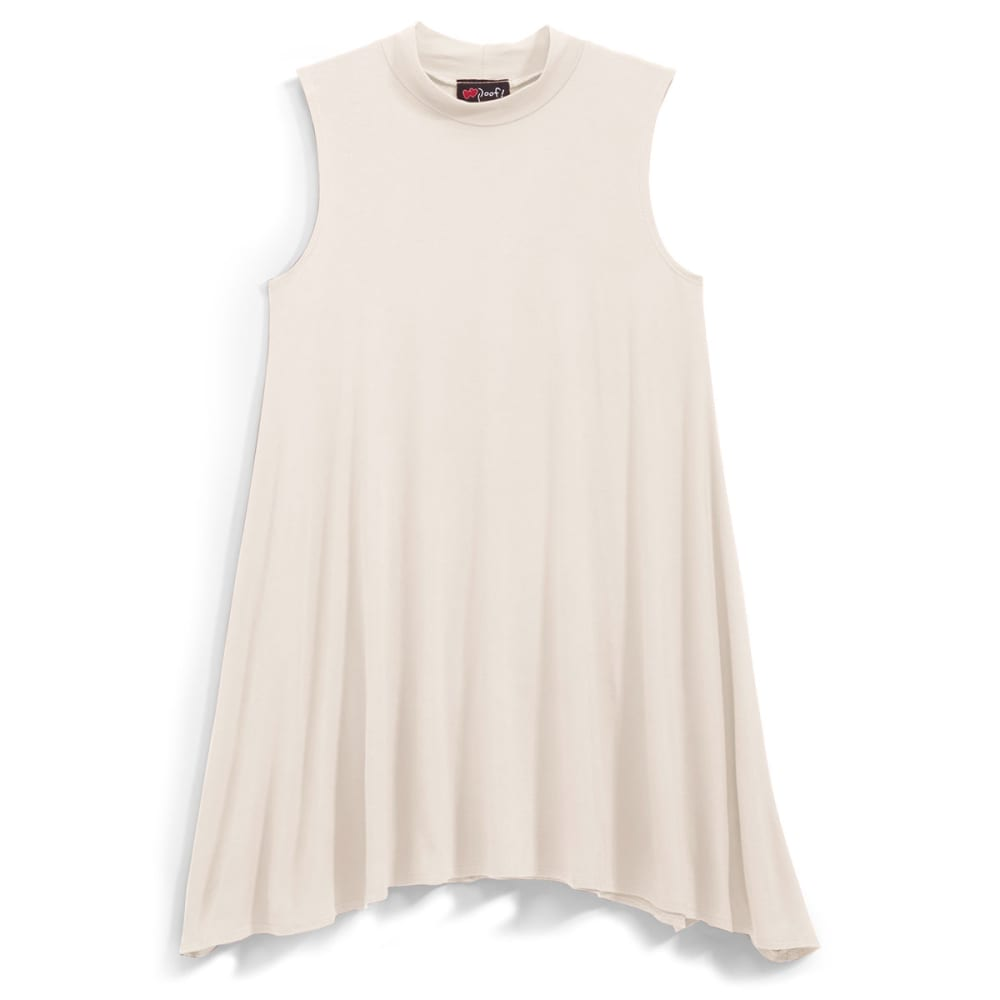 POOF Juniors' Mock Neck Trapeze Dress - OATMEAL HTR