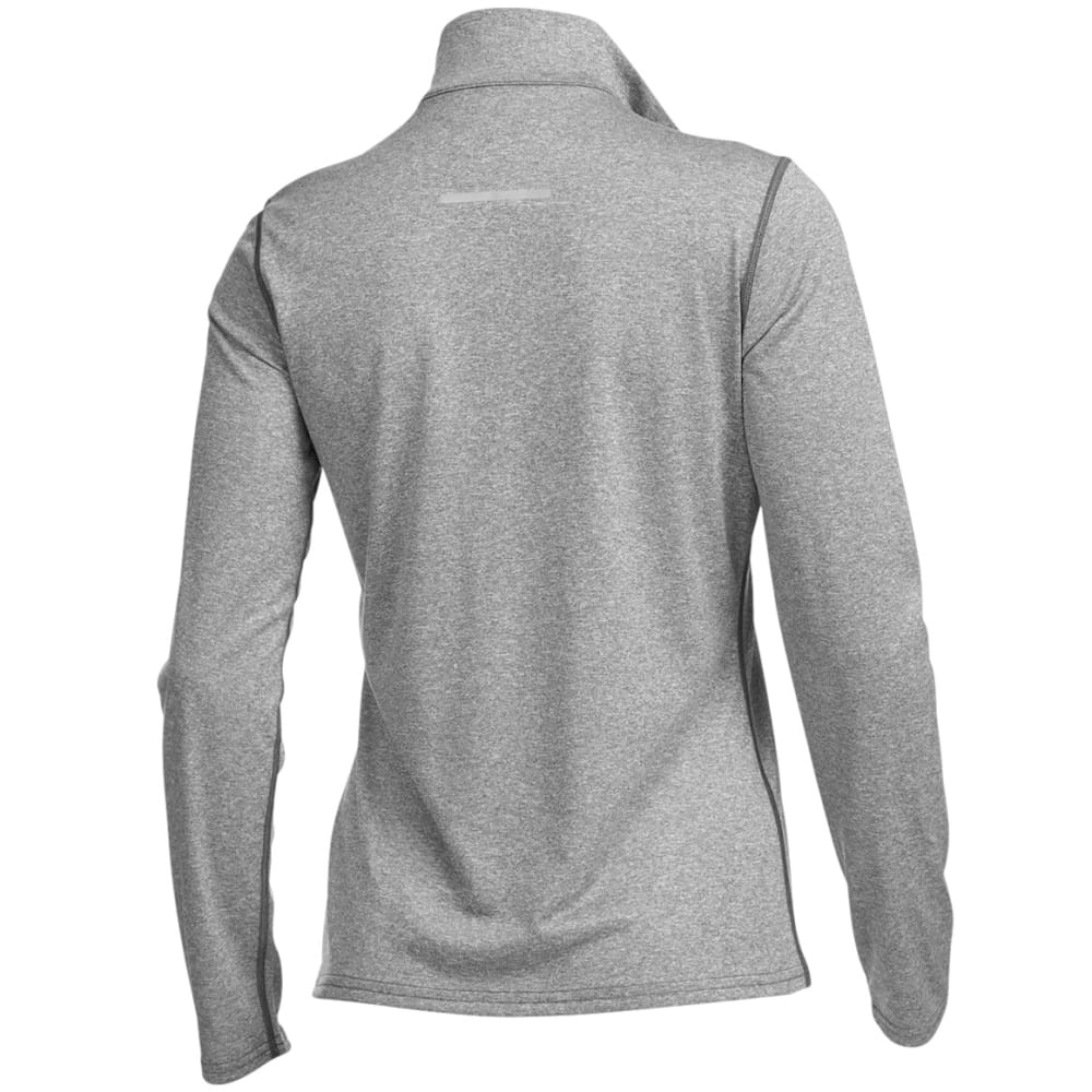 EMS Women's Techwick Essence 1/4 Zip Pullover - CHARCOAL HTR