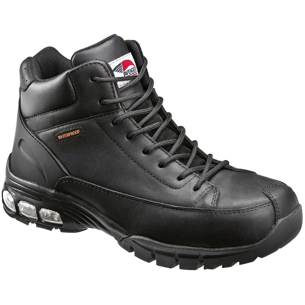 AVENGER Men's 7244 Composite Toe Waterproof Work Boot, Wide - BLACK