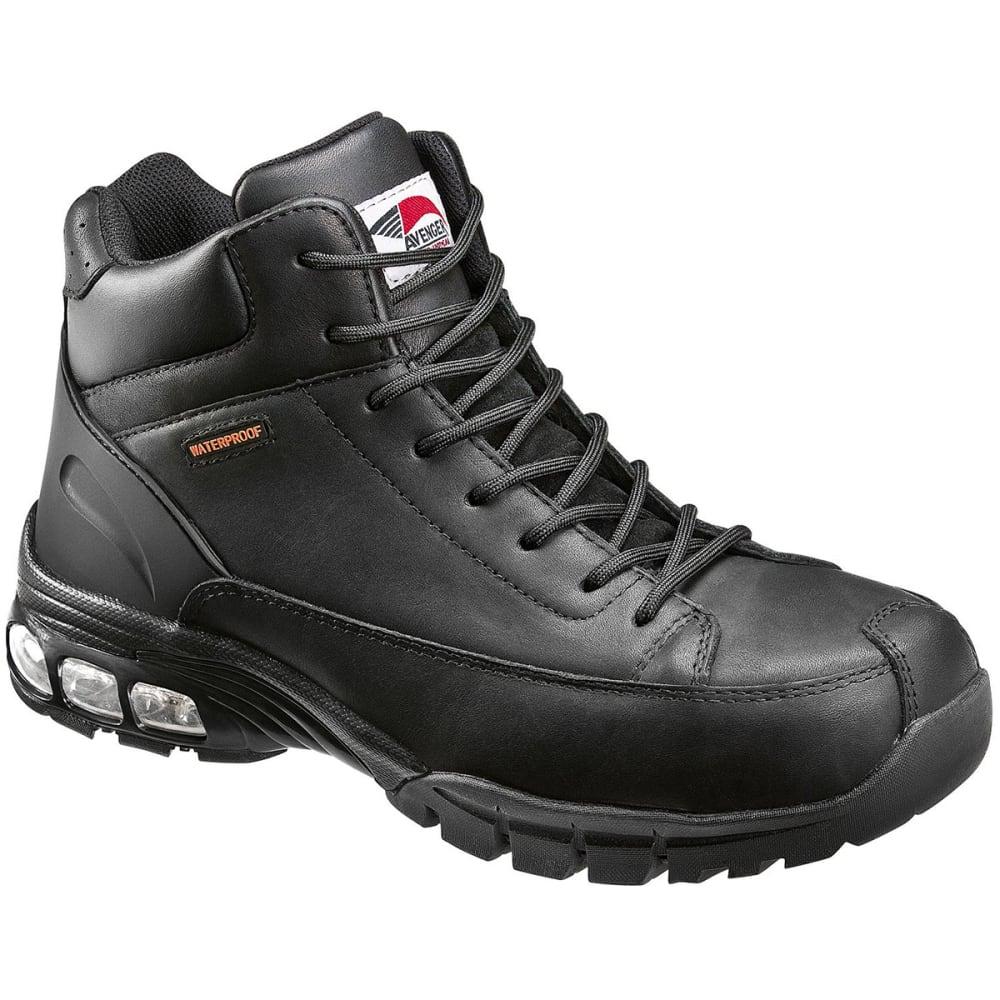 AVENGER Men's 7244 Composite Toe Waterproof Work Boot, Wide - BLACK