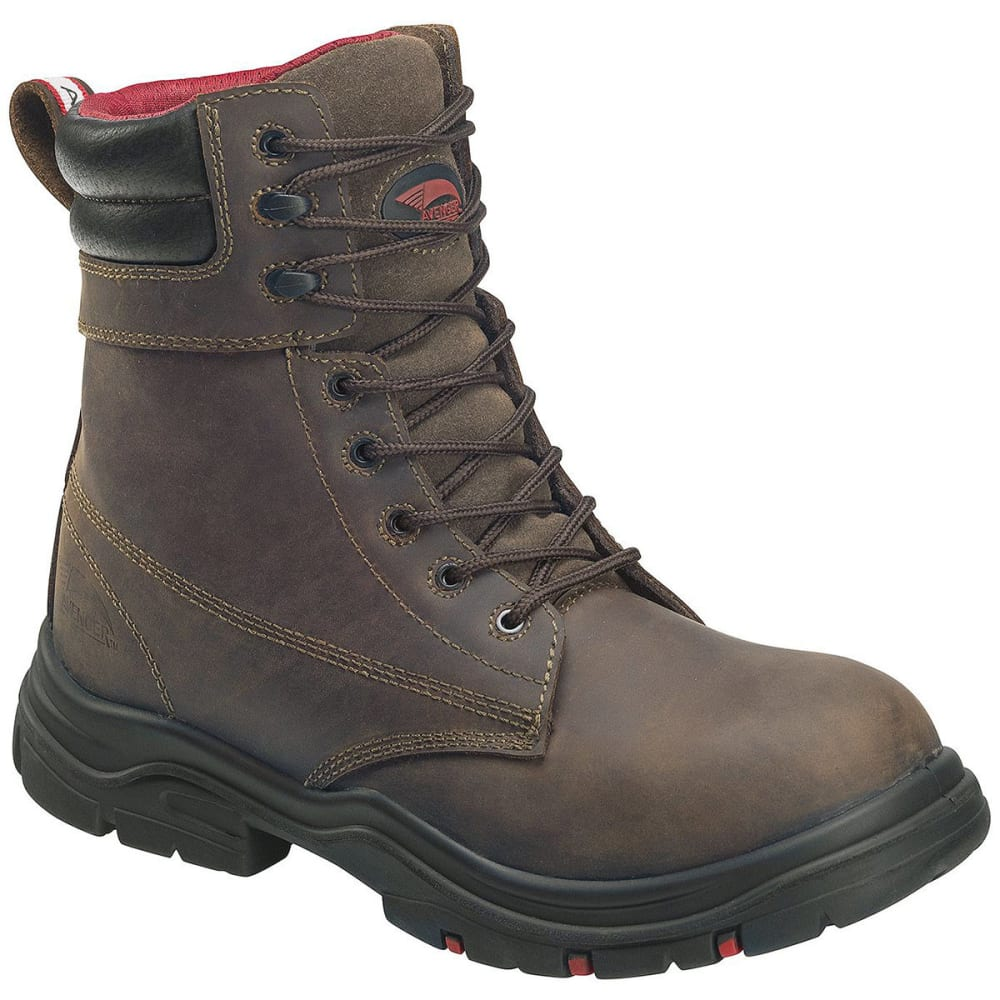 AVENGER Men's Hoss 7266 Composite Toe 8 in. Waterproof Workboots, Brown - BROWN